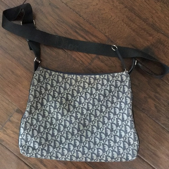 7b7ee3ff9b8 Dior Bags   Authentic Christian Vintage Denim Sling Bag   Poshmark